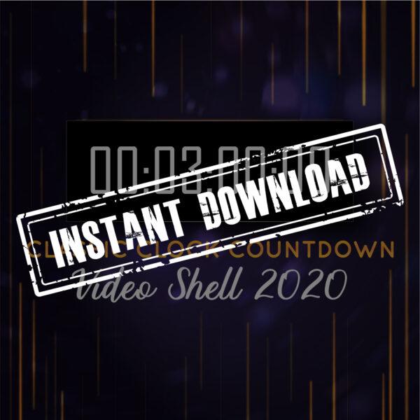 """NYE 2020 - Cloc Cyfri """"Clasurol"""" TAIR munud - LAWRLWYTHO INSTANT"""