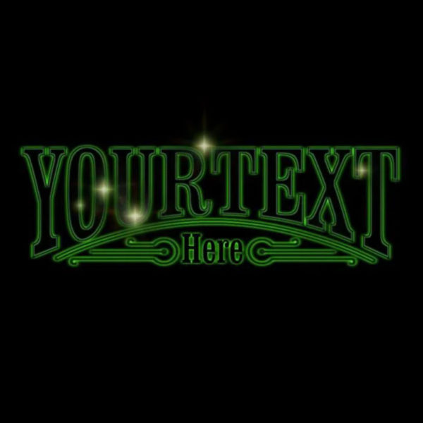 Glowing Star Text [Video custom]